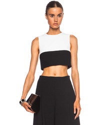 Nicholas Two Tone Poly Crop Top