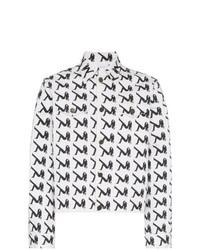 Men S White And Black Denim Jackets By Calvin Klein Jeans Est 1978 Lookastic