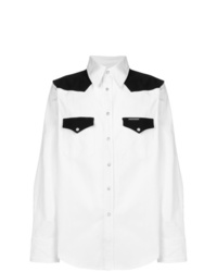 White and Black Denim Shirt