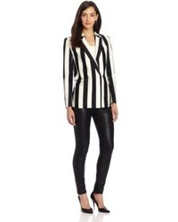 White and black double breasted blazer original 3189381