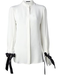 Alexander McQueen Bow Embellished Blouse
