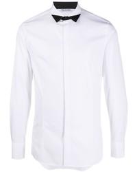 Neil Barrett Contrast Pointed Collar Tuxedo Shirt