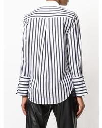 Equipment Striped Cuff Shirt