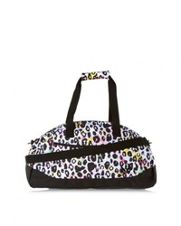 White and Black Duffle Bag