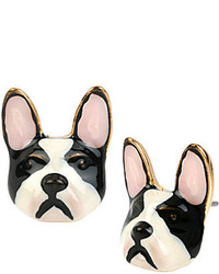 Betsey Johnson Bulldog Stud Earrings