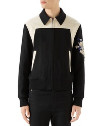 Gucci Wool Bomber With Cat Applique