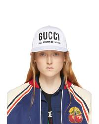 Gucci White Y Baseball Cap