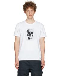 Alexander McQueen White Embroidered Skull T Shirt