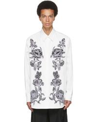 Valentino White Black Dark Blooming Shirt