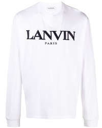 Lanvin Logo Print Long Sleeve T Shirt