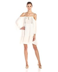 Glamorous Cold Shoulder Peasant Dress