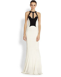 White and Black Evening Dress