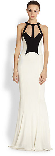 ABS by Allen Schwartz Abs Caged Two Tone Jersey Gown | Where to ...