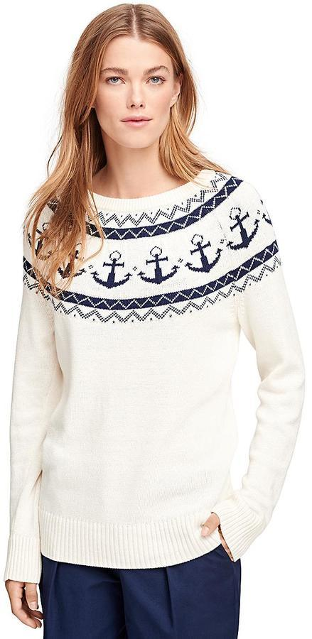 Brooks Brothers Cotton Fair Isle Sweater | Where to buy & how to wear