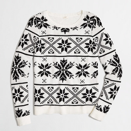 J.Crew Factory Factory Snowflake Fair Isle Sweater | Where to buy ...