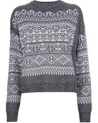 Fair isle knit sweater medium 1355639