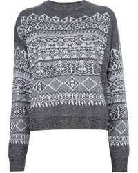 Fair isle knit sweater medium 8688