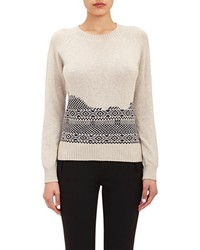 Fair isle sweater white medium 375395