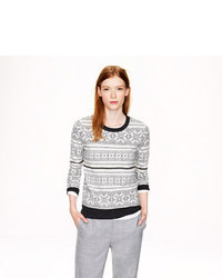 Ivory fair isle sweater medium 8685