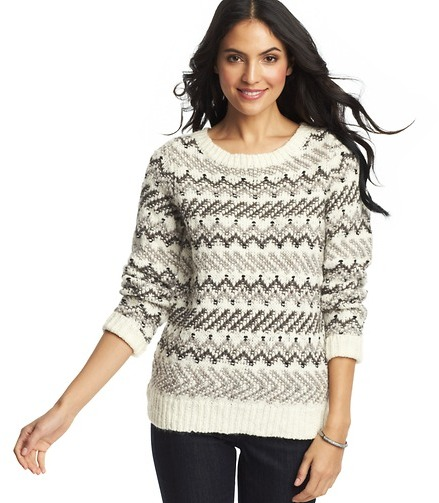 LOFT Fair Isle Sweater | Where to buy & how to wear