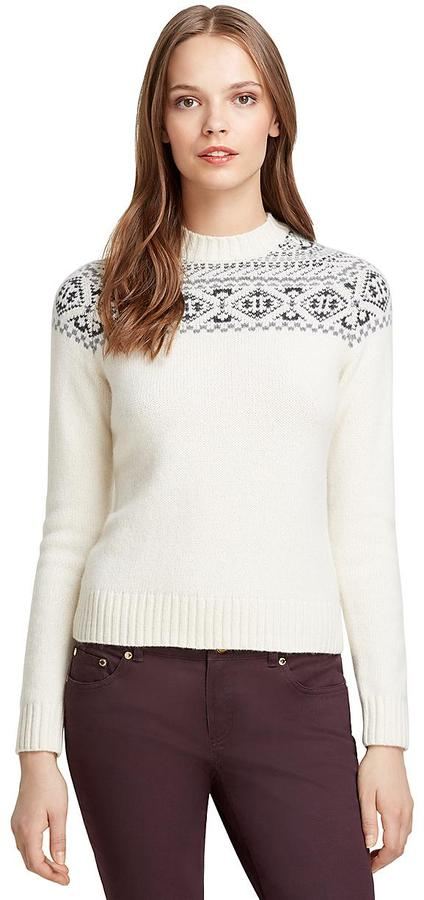 Brooks Brothers Long Sleeve Cashmere Fair Isle Sweater | Where to ...