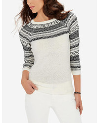 Reverse fair isle sweater medium 375394