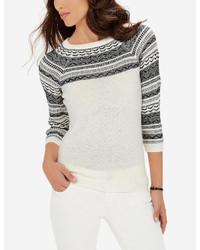 Reverse fair isle sweater medium 375394
