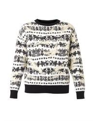 Alexander McQueen Unicorn Fair Isle Jacquard Sweater