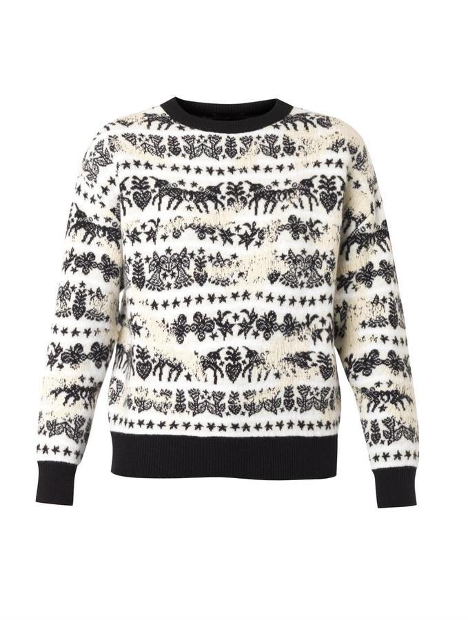 Alexander McQueen Unicorn Fair Isle Jacquard Sweater   Where to ...