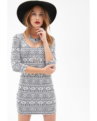 Abstract pattern bodycon dress medium 119856