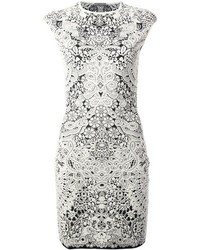 Alexander mcqueen embroidered floral dress medium 43567
