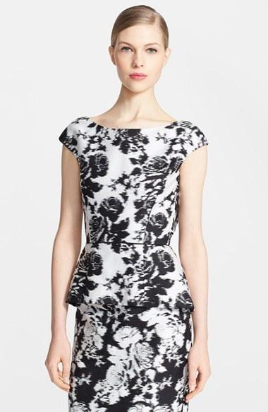 Oscar de la Renta Floral Peplum Top | Where to buy & how to wear