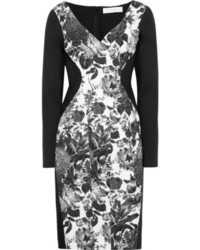 Stella McCartney Floral Print Cotton Blend And Stretch Crepe Dress