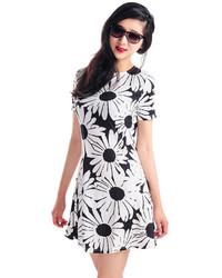 Choies Cute Daisy Print A Line Dress