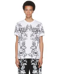 Valentino White Dark Blooming Logo T Shirt