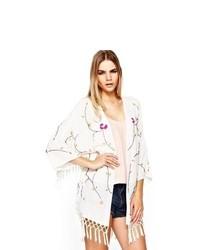 Love Label Fringed Embellished Kimono