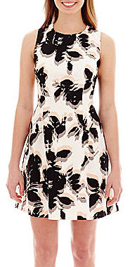 Floral Shift Dresses Jcpenney Worthington Sleeveless Seamed Fitted Dress