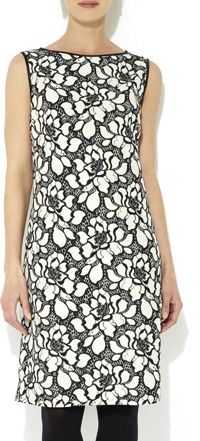 70 Wallis Monochrome Floral Lace Dress