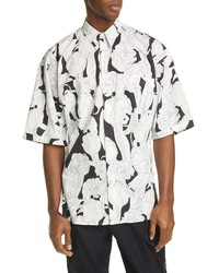 Givenchy Floral Graphic Oversize Cotton Shirt