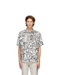 Fendi White Joshua Vides Edition Silk Short Sleeve Shirt