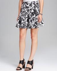 Skirt rose print skater medium 121151