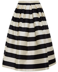 White and Black Full Skirt
