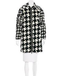 Stella McCartney Houndstooth Knee Length Coat