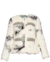 Shrimps Cindy Spotted Faux Shearling Jacket
