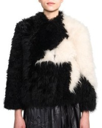 MSGM Star Pattern Fur Jacket