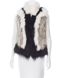 Contrast fur vest medium 6368503