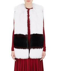 Striped fox fur vest medium 6368504
