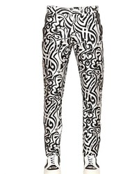 John richmond 17cm printed techno gabardine pants medium 183393