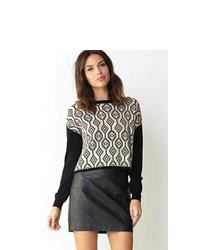 Love 21 Geo Girl Boxy Sweater