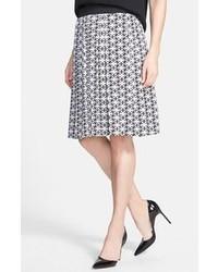 Print stretch silk full skirt medium 42247